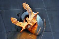 Ship anchor. Rust iron ship anchor - marine tool Stock Photography