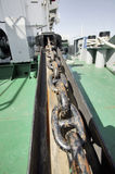 Ship anchor chain Royalty Free Stock Images
