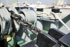 Ship anchor chain Royalty Free Stock Photos