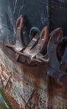 Ship with anchor Royalty Free Stock Photos