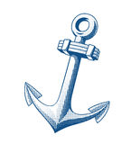 Ship anchor tattoo Royalty Free Stock Photo