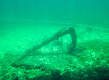 Ship Anchor Underwater: Busselton Jetty Royalty Free Stock Photos