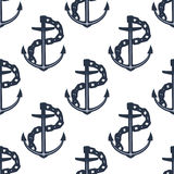 Ship anchors nautical seamless pattern Stock Photos