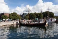 Ship ancient Viking era. Oslo. Norway. Royalty Free Stock Image