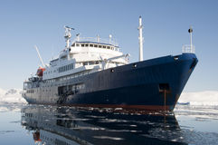Ship in Antarctic Royalty Free Stock Image