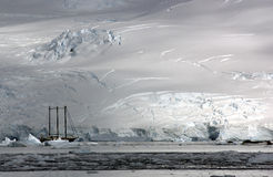 Ship in antarctic royalty free stock images