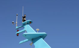 Ship antenna Stock Photography