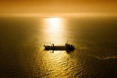 Ship in the Atlantic ocean Royalty Free Stock Image
