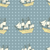 Ship background, seamless pattern. Royalty Free Stock Photography