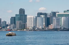 The ship on a background of Tokyo Stock Images