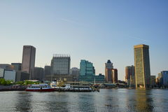 Ship in Baltimore inner harbor. A old ship in Baltimore inner Harbor scenic area and downtown royalty free stock photo