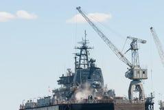 Ship in Baltiysk dry dock Royalty Free Stock Photo