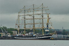 Ship Barque Kruzenshtern. In Kerch port Crimea May Black sea Royalty Free Stock Image