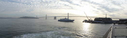 A ship in the bay of San Francisco Stock Photography