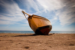 Ship   on  the   beach Stock Images