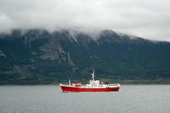 Ship in Beagle Channel Royalty Free Stock Photos