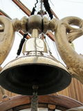 Ship bell. In a old russian tall ship Stock Photography