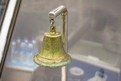 Ship bell closeup stock image