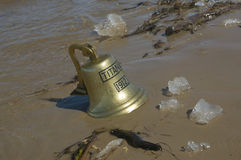 Ship bell of Titanic ship Stock Photos