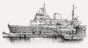 Ship at berth Stock Photography