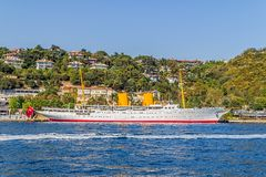 Ship in Besiktas Istanbul Stock Images