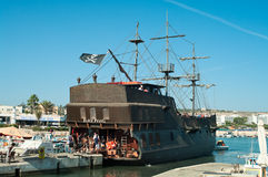 Ship the Black Pearl in Agia-Napa, Cyprus Royalty Free Stock Photos