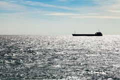 Ship in Black sea in autumn Stock Images