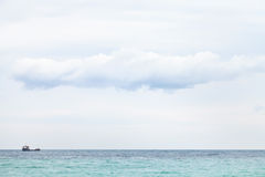 Ship in Black Sea in cloudy day Stock Photo