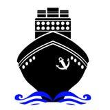 Ship Black Silhouette Stock Photos