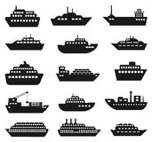 Ship and boat icon set. Royalty Free Stock Photography