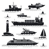 Ship and boat icons vector illustration