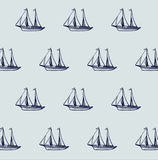 Ship boat pattern Royalty Free Stock Photos