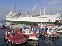 Ship and boats at port