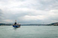 Ship on Bosphorus in Istanbul, Turkey Royalty Free Stock Photos