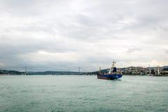 Ship on Bosphorus in Istanbul, Turkey Royalty Free Stock Photo