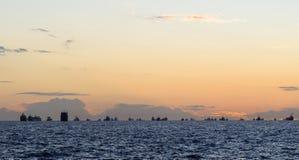 Ship at Bosphorus strait Royalty Free Stock Image