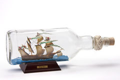 Ship in a bottle stock photos