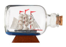 Ship in a Bottle Stock Images