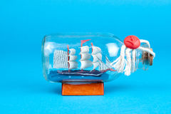 Ship in a bottle Royalty Free Stock Photos