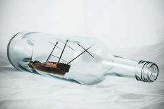 Ship in a Bottle Royalty Free Stock Photo