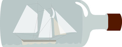 Ship In Bottle Royalty Free Stock Photos
