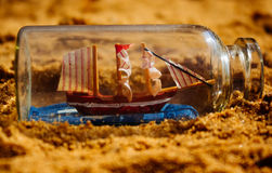 Ship in the bottle Stock Images