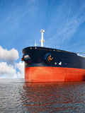 Ship bow. Bow of a bulk carrier on sea Royalty Free Stock Photo