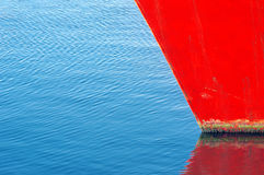 Ship bow reflection with copy space Royalty Free Stock Photos