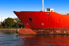 Ship bow. A bow of a ship from sideway Stock Photo