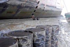 Ship breaking in Bangladesh Stock Image
