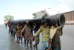 Ship breaking in Bangladesh Royalty Free Stock Images