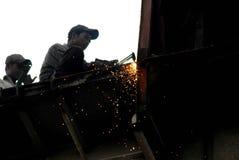 Ship breaking in Bangladesh Stock Images