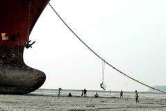 Ship breaking in Bangladesh Royalty Free Stock Photography