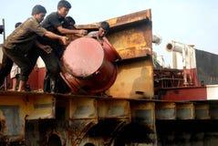 Ship breaking in Bangladesh Stock Photos
